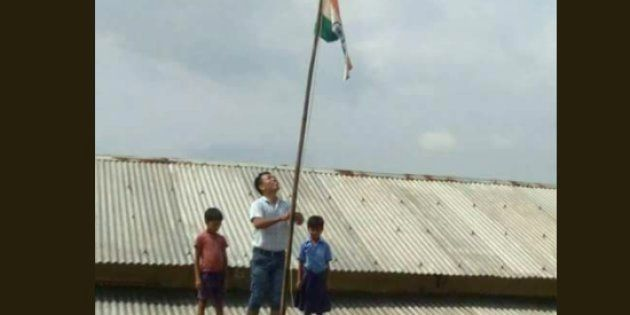 Govts May Have Failed Them, But Kids Risked Their Lives In Assam To Hoist Flag In Submerged
