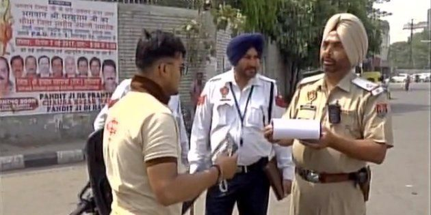 Traffic Cops In Ludhiana Wear Body Cameras To Record Conversation And Check