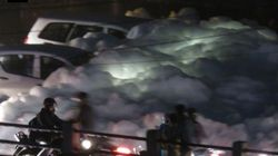 Bengaluru Lakes Spew Unprecedented Amounts Of Foam, Engulfing Cars, Roads and