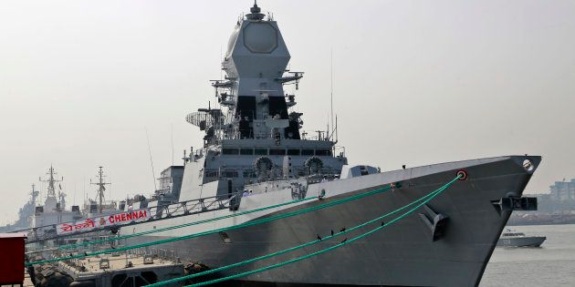 Manohar Parrikar Commissions New Warship INS Chennai Into Indian