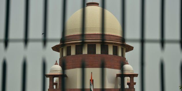 A view of India's Supreme Court building is seen in New Delhi on May 26,