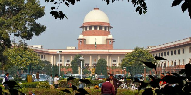A view of the Indian Supreme Court building is seen in New Delhi December 7,