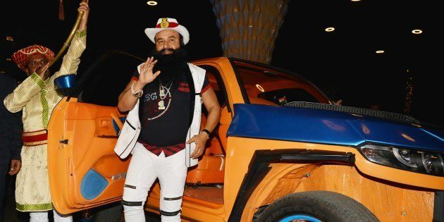 Gurmeet Ram Rahim Singh during the trailer launch of his new film ' Hind Ka Napak Ko Jawab' in