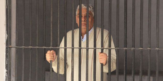 PANCHKULA, INDIA - NOVEMBER 20: Rampal put up in lock up of sector 5 police station after his arrest...