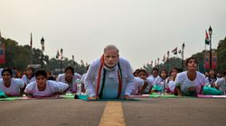 Top Cops Have A Yoga Session With Modi On Saturday. They Are Stressing Out Just Thinking About