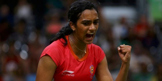 PV Sindhu at the 2016 Rio