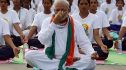 PM Modi Participates In Yoga Session With Top Cops In