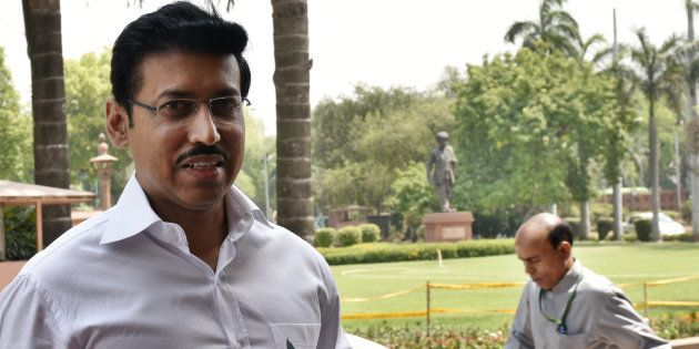 Minister of state for Information and Broadcasting Rajyavardhan Singh Rathore in a file