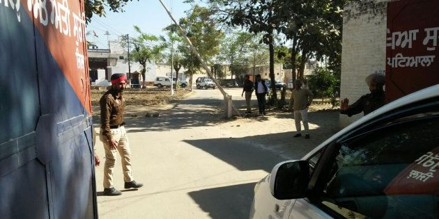 PATIALA, INDIA - NOVEMBER 27: The entrance gate of the high-security Nabha jail in Patiala from where...