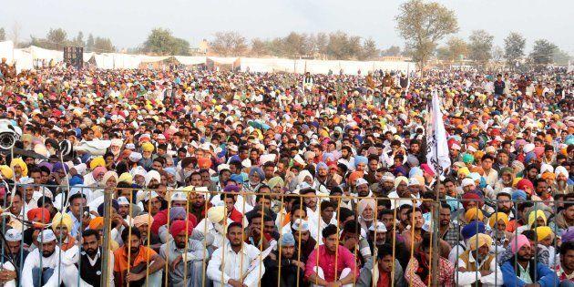 An AAP rally in Lambi,