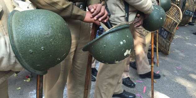 UP Cop Suspended For Thrashing Samajwadi Party Youth Wing