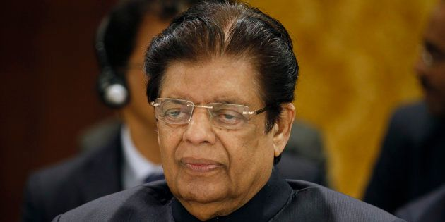 India's Minister of State for External Affairs E. Ahamed attends the 12th Asia Cooperation Dialogue Ministerial...
