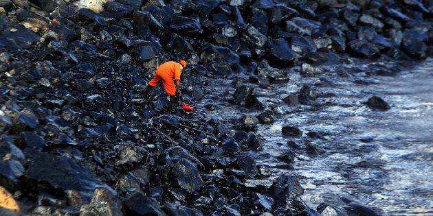 Oil Spill In Ennore Has Now Covered Chennai's Marina Beach, Experts Fear Severe Damage To