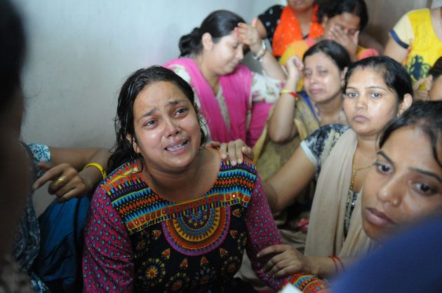 Mother of the seven-year-old child in shock over the murder of her son on September 8, 2017 in Gurgaon,