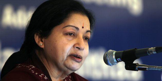 Tamil Nadu Chief minister J Jayalalithaa in a file