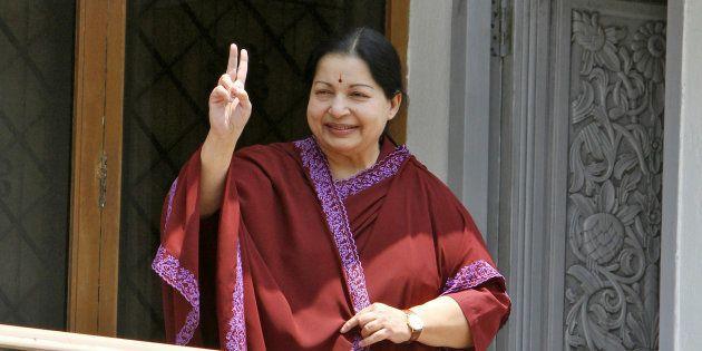J Jayalalithaa in a file