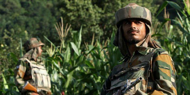 Infiltration Bid Foiled In J&K , 4 Terrorists