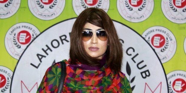 In this photograph taken on June 28, 2016, Pakistani social media celebrity, Qandeel Baloch arrives for...
