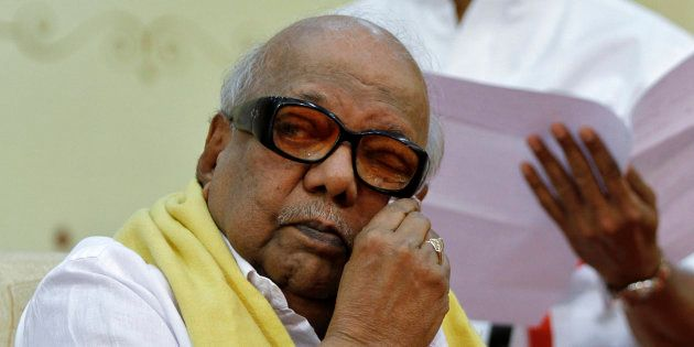 M. Karunanidhi, chief of Dravida Munnetra Kazhagam in a file