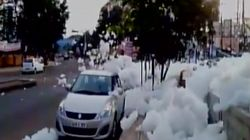 WATCH: Toxic Foam From Bengaluru's Varthur Lake Leads To Chemical 'Snowfall' On