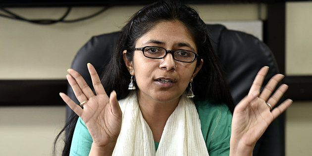 File photo of Delhi Women Commission Chief Swati Maliwal, who conducted the surprise inspection at Asha...