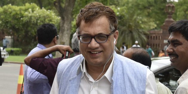 TMC leader Derek O'Brien outside Parliament after attending the session at Parliament on May 3, 2016...