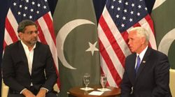 Pak PM Shahid Khaqan Abbasi Complains To Mike Pence Over US Wanting Greater Role For India In