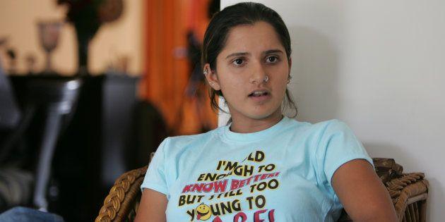 MUMBAI, INDIA - SEPTEMBER 9, 2009: Tennis Player Sania Mirza. (Photo by Soumitra Ghosh/Hindustan Times...