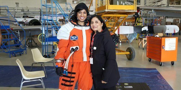 Shawna Pandya with her mother Indira