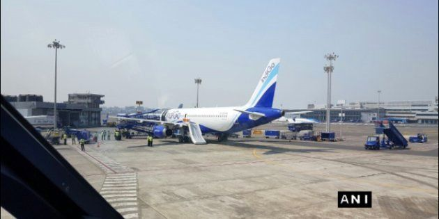 IndiGo Passenger Arrested For Opening Emergency Chute Before Take-Off On Mumbai-Chandigarh