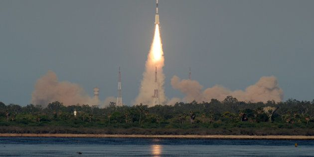 The Indian Space Research Organisation's (ISRO) GSAT-9 on board the Geosynchronous Satellite Launch Vehicle...