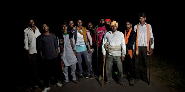 Members of a cow vigilante group in Ramgarh, Rajasthan,