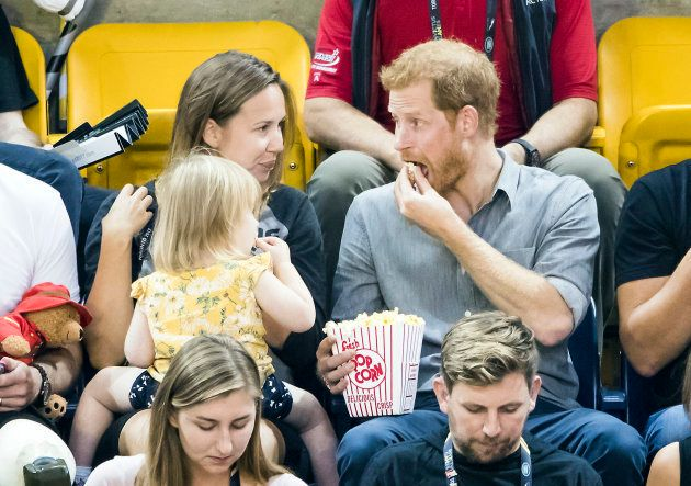 Popcorn-Poaching Toddler Helps Herself To Prince Harry's