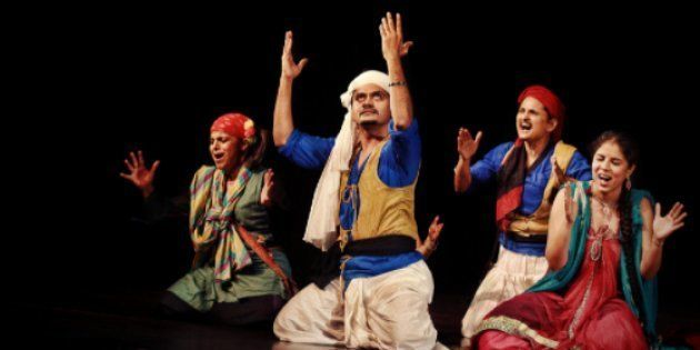 Theatre director Atul Kumar was told that he cannot start his show unless he plays the national anthem...