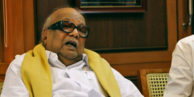 DMK president M. Karunanidhi was re-admitted to hospital late last
