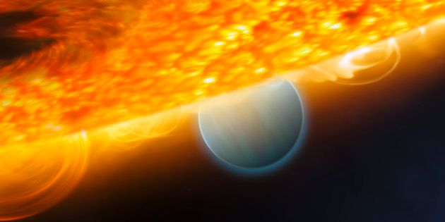 The Hottest Known Planet In The Universe Has A Glowing Gas Tail And It Might Just Be