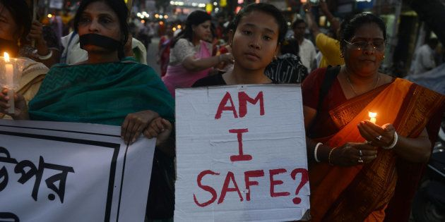 Indian residents of Siliguri protest against the gang rape of a nun at a Christian missionary