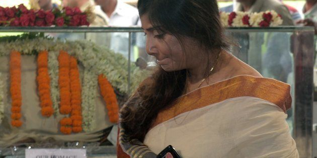 Vaishali Dalmiya (R), daughter of the late president of the Board of Control for Cricket in India (BCCI)...