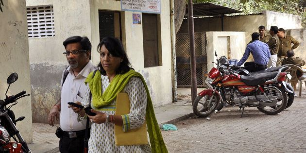 File photo of Nupur and Rajesh Talwar coming out of CBI Court after hearing in Arushi-Hemraj case on...