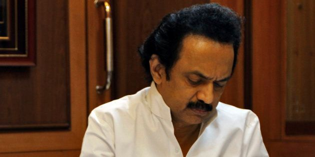 DMK treasurer MK Stalin in a file