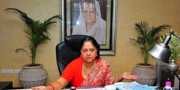 Chief Minister of Rajasthan, Vasundhara