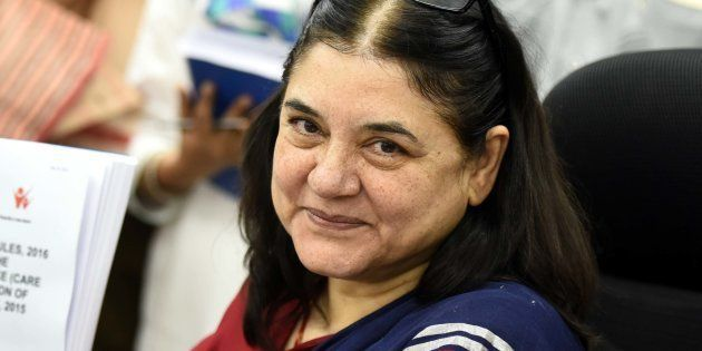 File photo of Women and Child Development minister Maneka