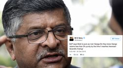 Ravi Shankar Prasad Said Modi Is As 'Pure As Ganga', Twitter (Obviously) Had A Field