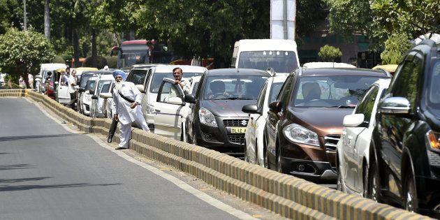 A file photo of Delhi traffic jam.