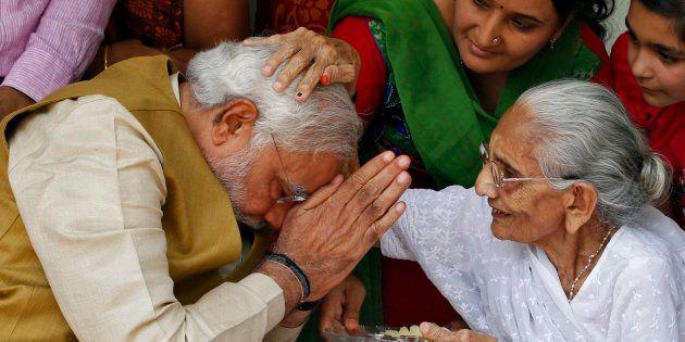 Prime Minister Narendra Modi with his
