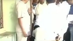 Karnataka CM Caught On Camera Getting His Shoe Laces
