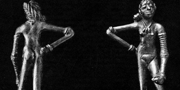 The iconic 'Dancing Girl' figuring of Mohenjodaro dates back to 2500