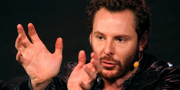 Napster founder and former Facebook president Sean Parker gestures during the Web 2.0 Summit in San Francisco,...