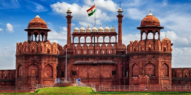 Red Fort With Indian Flag Shown As Part Of Lahore At The Shanghai Cooperation Organisation