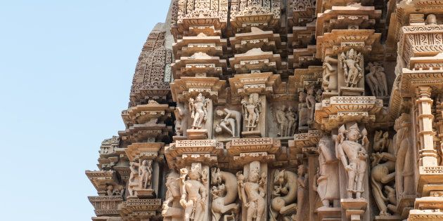 Erotic sculptures of the Khajuraho group of monuments, part of the UNESCO World Heritage